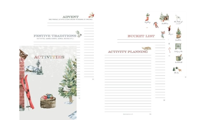 Christmas Planner 2021 Activities section