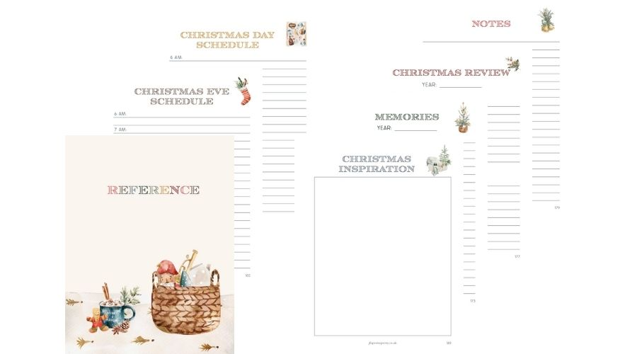 Christmas Planner 2021 Reference section